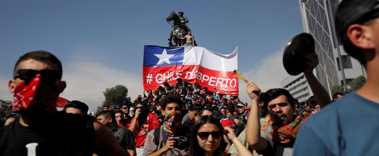 Manifestaciones en Quinto Centenario dejaron daños por $5 millones de pesos a Osorno