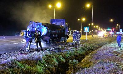 Camión que trasladaba desechos se incendió en Puerto Montt