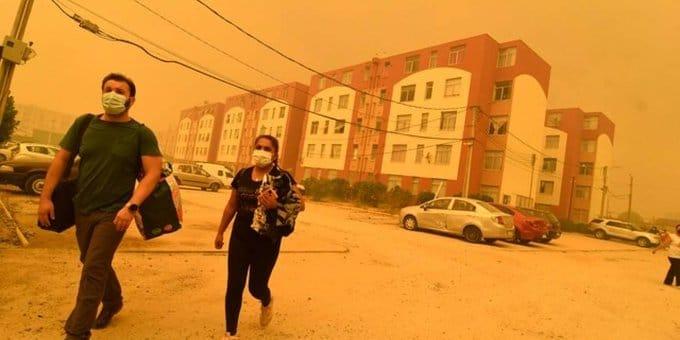 Incendio forestal en Quilpué