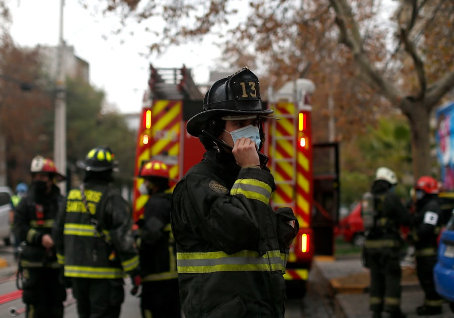 incendio en sector de Alerce