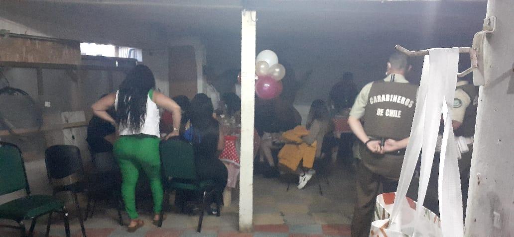 Fiesta clandestina en Ancud